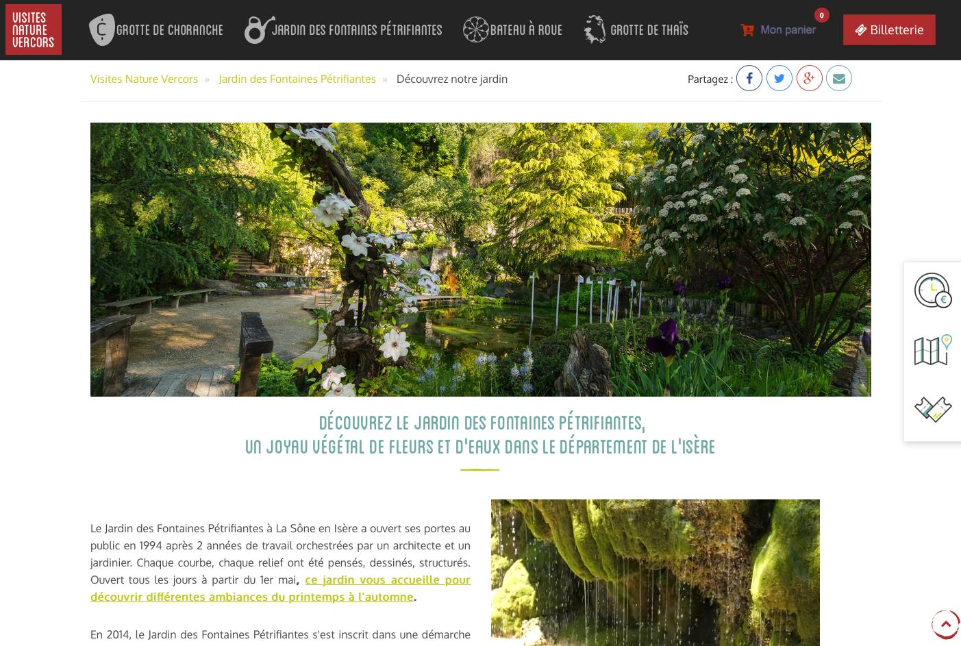 Capture de site Web Jardin Remarquable