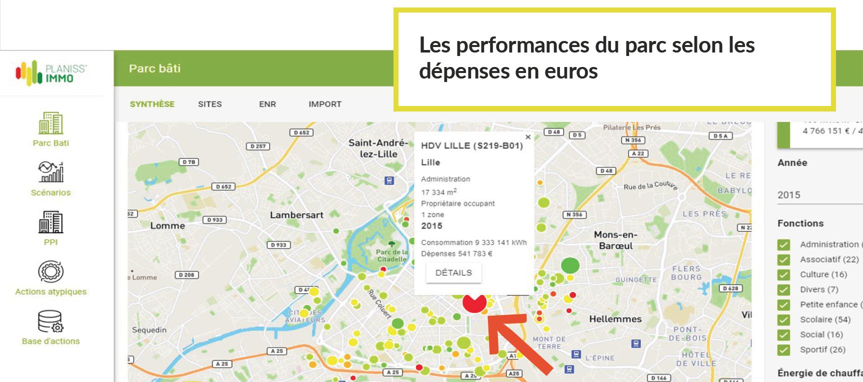 Carte Interactive de gestion de parcs batis