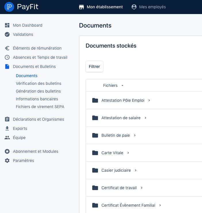 Gestion Document PayFit