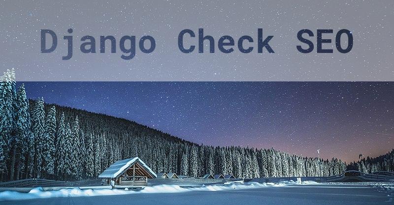 Django Check SEO